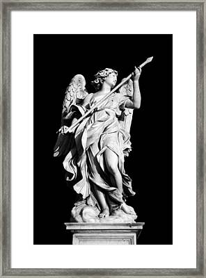 Angel With The Lance Framed Print by Fabrizio Troiani