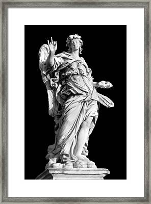 Angel With The Nail Framed Print by Fabrizio Troiani