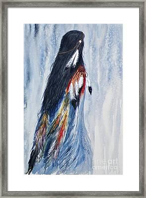 Angel Woman Framed Print by Elizabeth  Webb