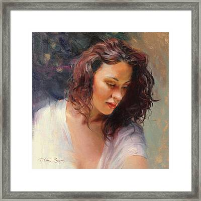 Angelic Framed Print by Anna Rose Bain