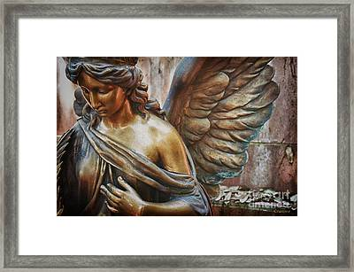 Angelic Contemplation Framed Print by Terry Rowe