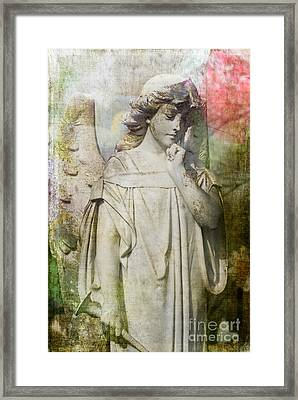 Angelic Thoughts Framed Print by Sonja Quintero