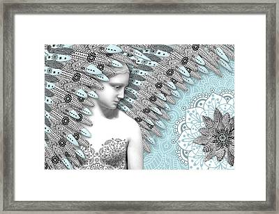 Angelica Hiberna - Angel Of Winter Framed Print by Christopher Beikmann