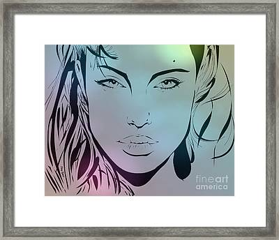 Angelina Framed Print by Cheryl Young