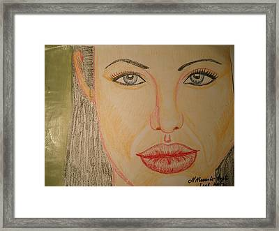 Angelina Jolie Framed Print by Fladelita Messerli-