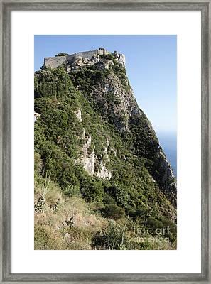 Angelo Castle Corfu Greece Framed Print by Neil Overy