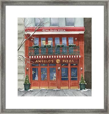 Angelo's On 57th Street Framed Print by Rhonda Leonard