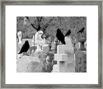 Angels Among Us Framed Print by Gothicolors Donna