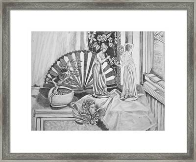Angels And Greek Goddess Framed Print by Susan Culver