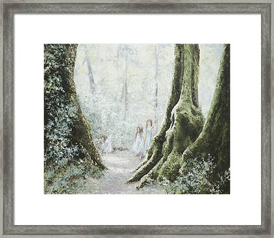 Angels In The Mist Framed Print by Jan Matson