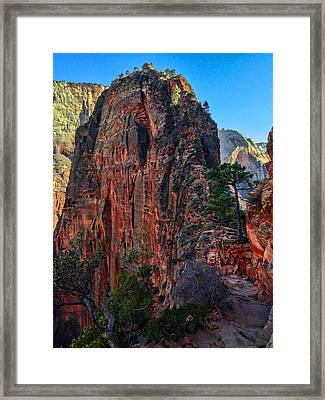 Angel's Landing Framed Print by Chad Dutson