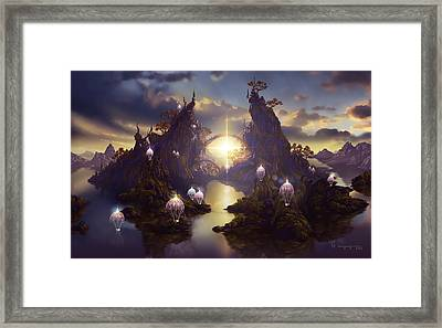 Angels Passage Framed Print by Cassiopeia Art