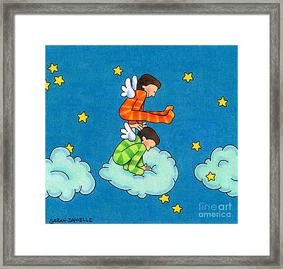 Angels Play Framed Print by Sarah Batalka