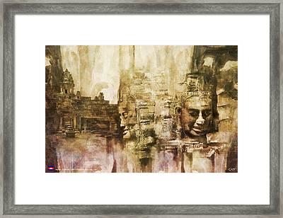 Angkor Framed Print by Catf