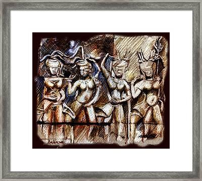 Angkor Wat - Apsara Framed Print by Daliana Pacuraru