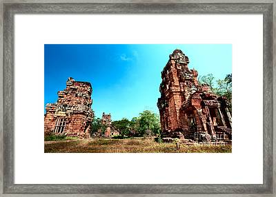 Angkor Wat Ruins Framed Print by Julian Cook