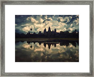 Angkor Wat Sunset Framed Print by Kim Andelkovic