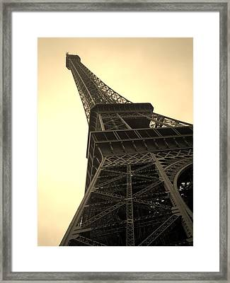 Angle Of The Tower Framed Print by Steven  Taylor