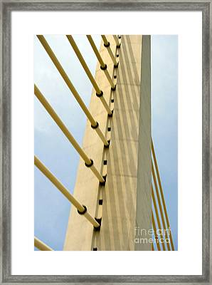 Angles For Strength Framed Print by Skip Willits