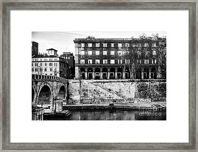 Angles In Trastevere Framed Print by John Rizzuto