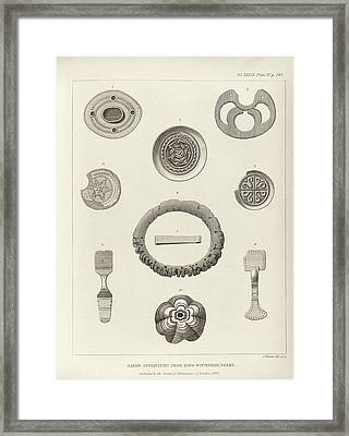 Anglo-saxon Artefacts Framed Print by Middle Temple Library