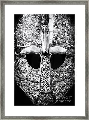 Anglo Saxon Helmet Framed Print by Tim Gainey