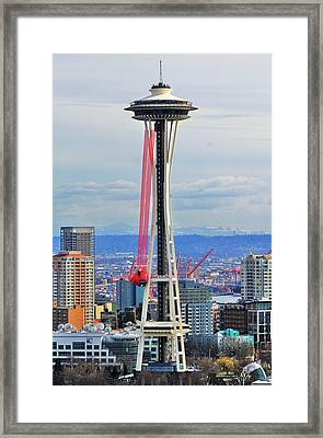 Angry Birds Needle Framed Print by Benjamin Yeager