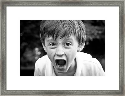 Angry Child Framed Print by Tom Gowanlock
