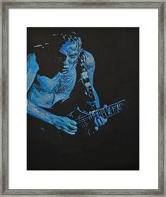 Angus Young. Framed Print by Breyhs Swan