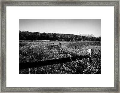 A Man And His Dog Framed Print by Frank J Casella