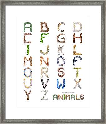 Animal Alphabet Framed Print by Leonard Filgate