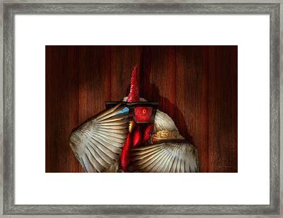 Animal - Chicken - Movie Night  Framed Print by Mike Savad