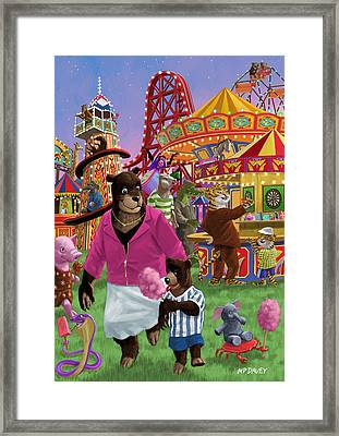 Animal Fun Fair Framed Print by Martin Davey