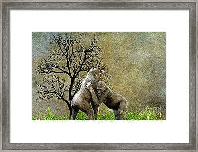 Animal - Gorillas - Aint Love Grand Framed Print by L Wright