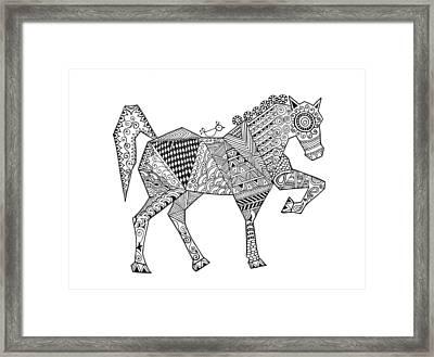 Animal Horse 2 Framed Print by Neeti Goswami