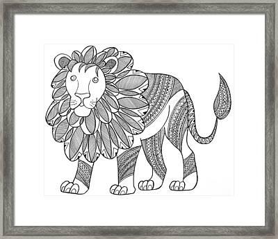 Animal Lion Framed Print by Neeti Goswami
