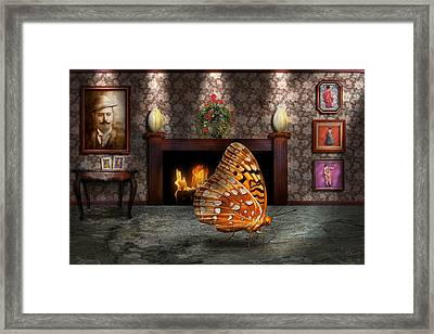 Animal - The Butterfly Framed Print by Mike Savad