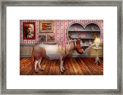 Animal - The Pony Framed Print by Mike Savad