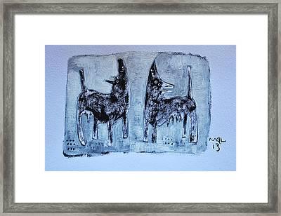Animalia Canis No. 1 Framed Print by Mark M  Mellon