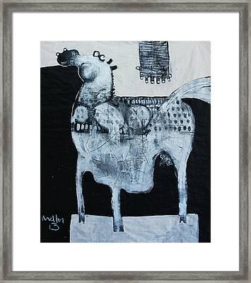 Animalia  Equos No 4 Framed Print by Mark M  Mellon