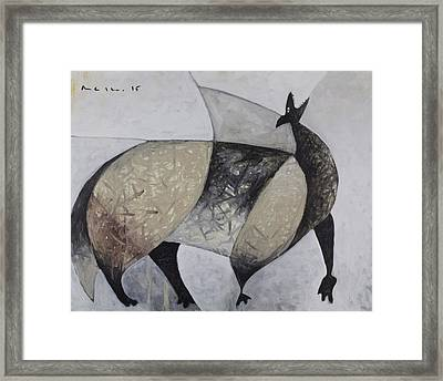 Animalia Howling Coyote Framed Print by Mark M  Mellon