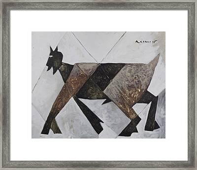 Animalia Walking Goat  Framed Print by Mark M  Mellon