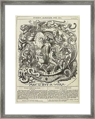 Animals And People Framed Print by British Library
