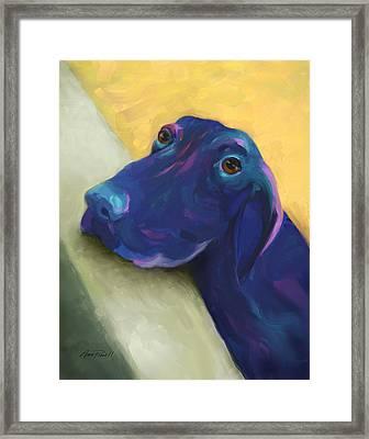 Animals Dogs Labrador Retriever Begging Framed Print by Ann Powell