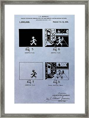 Animation Patent Framed Print by Dan Sproul