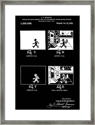 Animator Patent Framed Print by Dan Sproul
