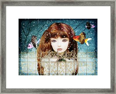 Aniolina Felicslawa Framed Print by Barbara Orenya