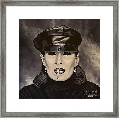 Anjelica Huston Framed Print by Paul Meijering