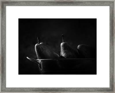 Anjou Pears Framed Print by Jesse Castellano