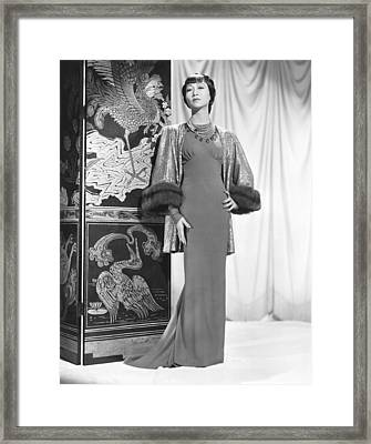 Anna May Wong In An Edith Head-designed Framed Print by Everett